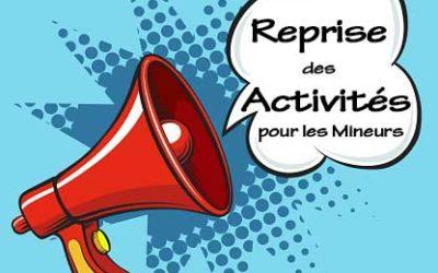 Reprise des Activités Sports, Loisirs et Culture pour les mineurs